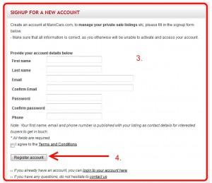 Complete registration form