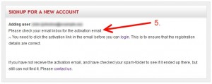 Check your emails for activation link