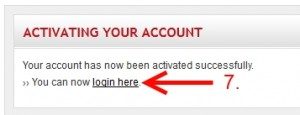 Activation link clicked and account activated